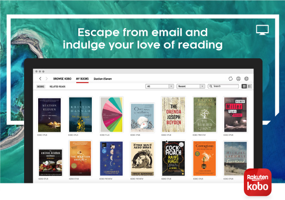 Escape from email and indulge your love of reading