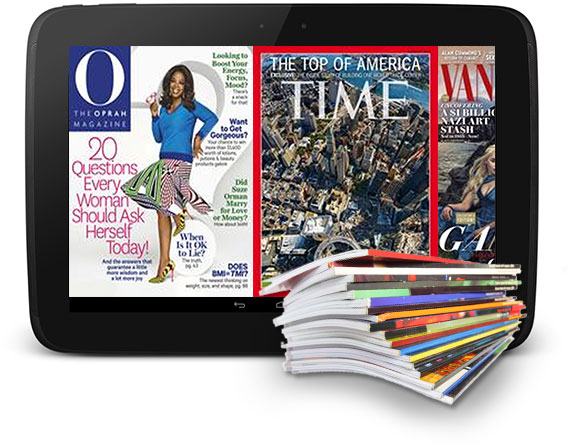 Leading magazines at your finger tips
