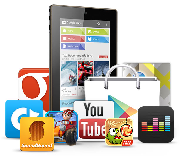 Browse and install great apps onto your Kobo tablet and enjoy them right away - no syncing required!